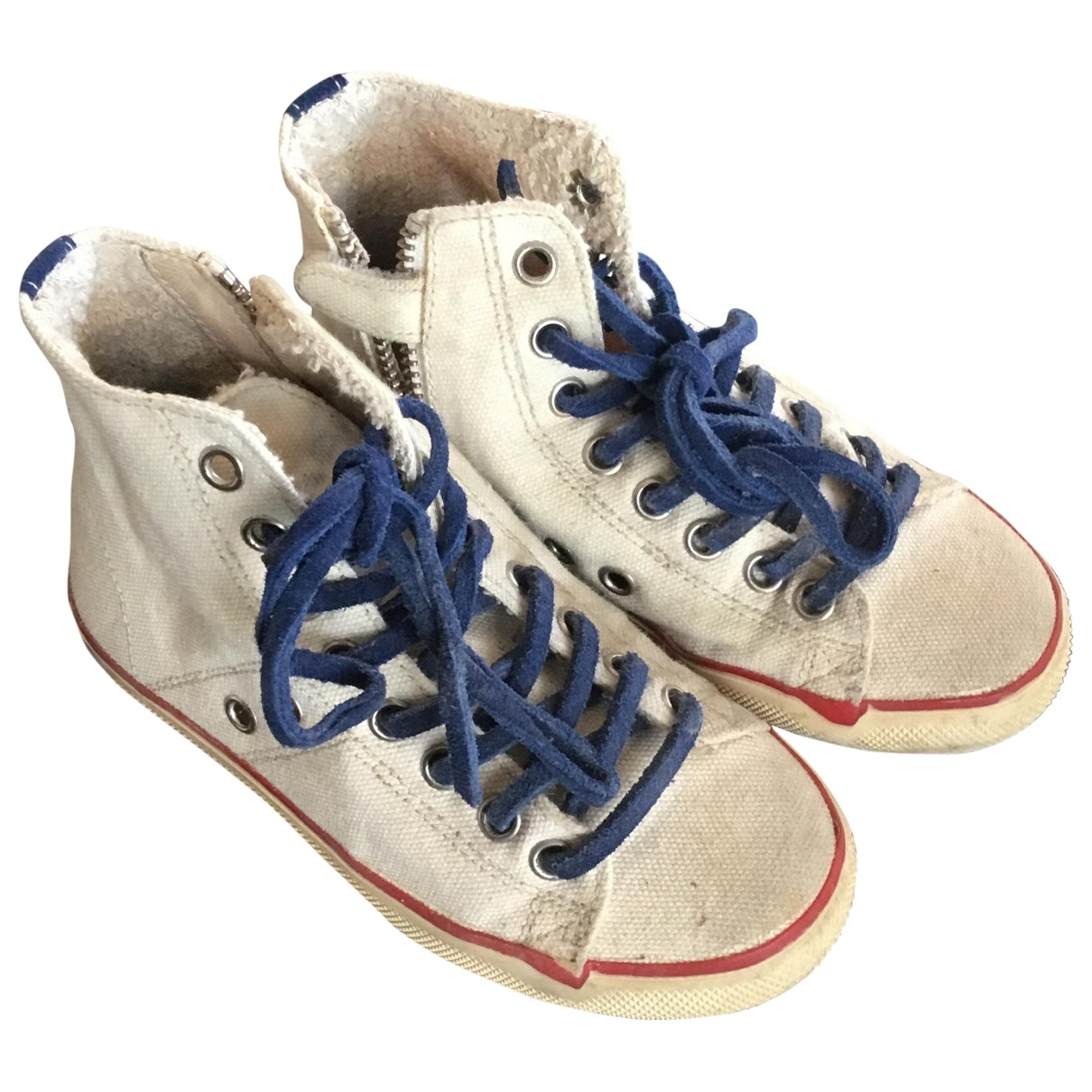 Leather Crown \N White Cloth Trainers for Kids 26 EU