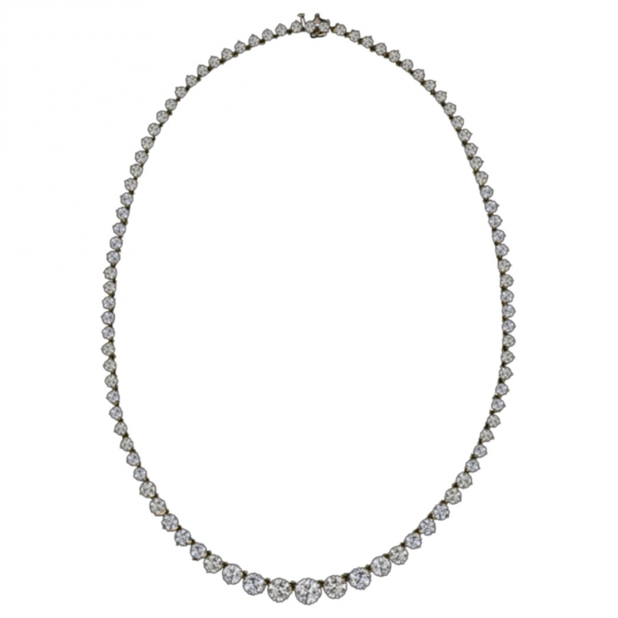Non Signé / Unsigned Tennis White Yellow gold necklace for Women \N