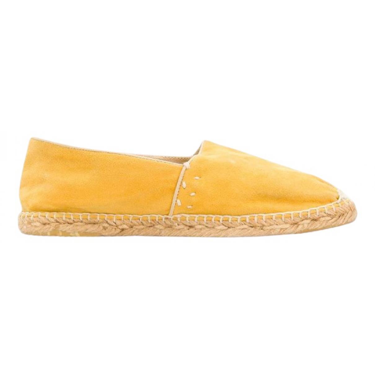 Gucci \N Espadrilles in  Gelb Veloursleder
