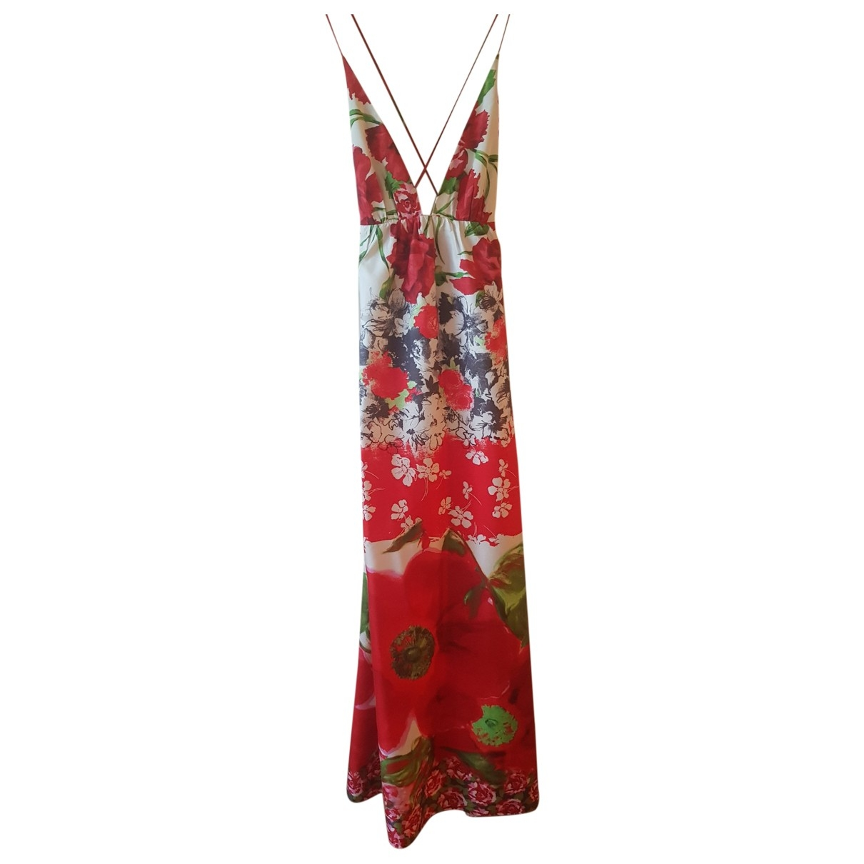 Non Signé / Unsigned \N Red Cotton dress for Women 40 FR