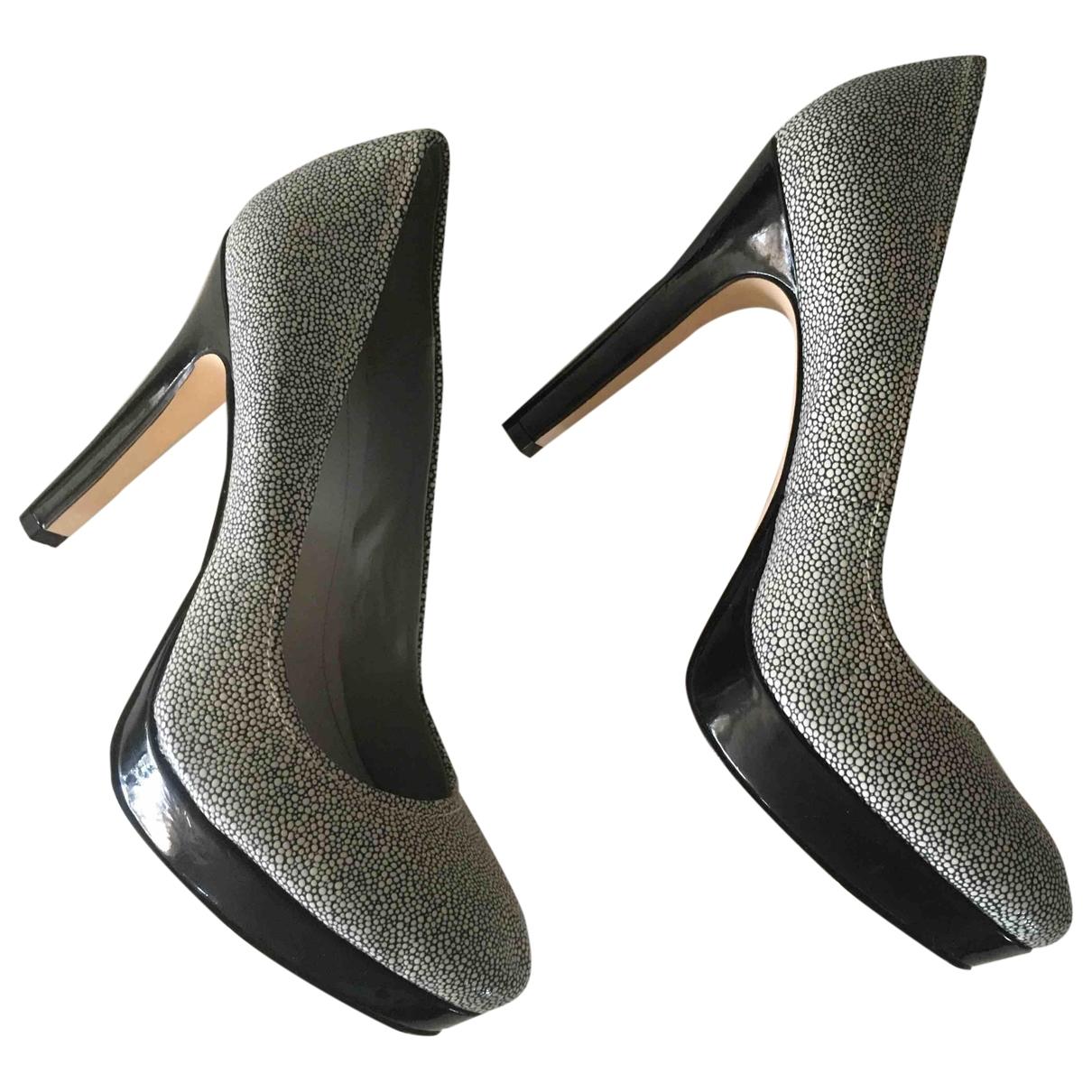 Calvin Klein - Escarpins   pour femme en cuir - gris