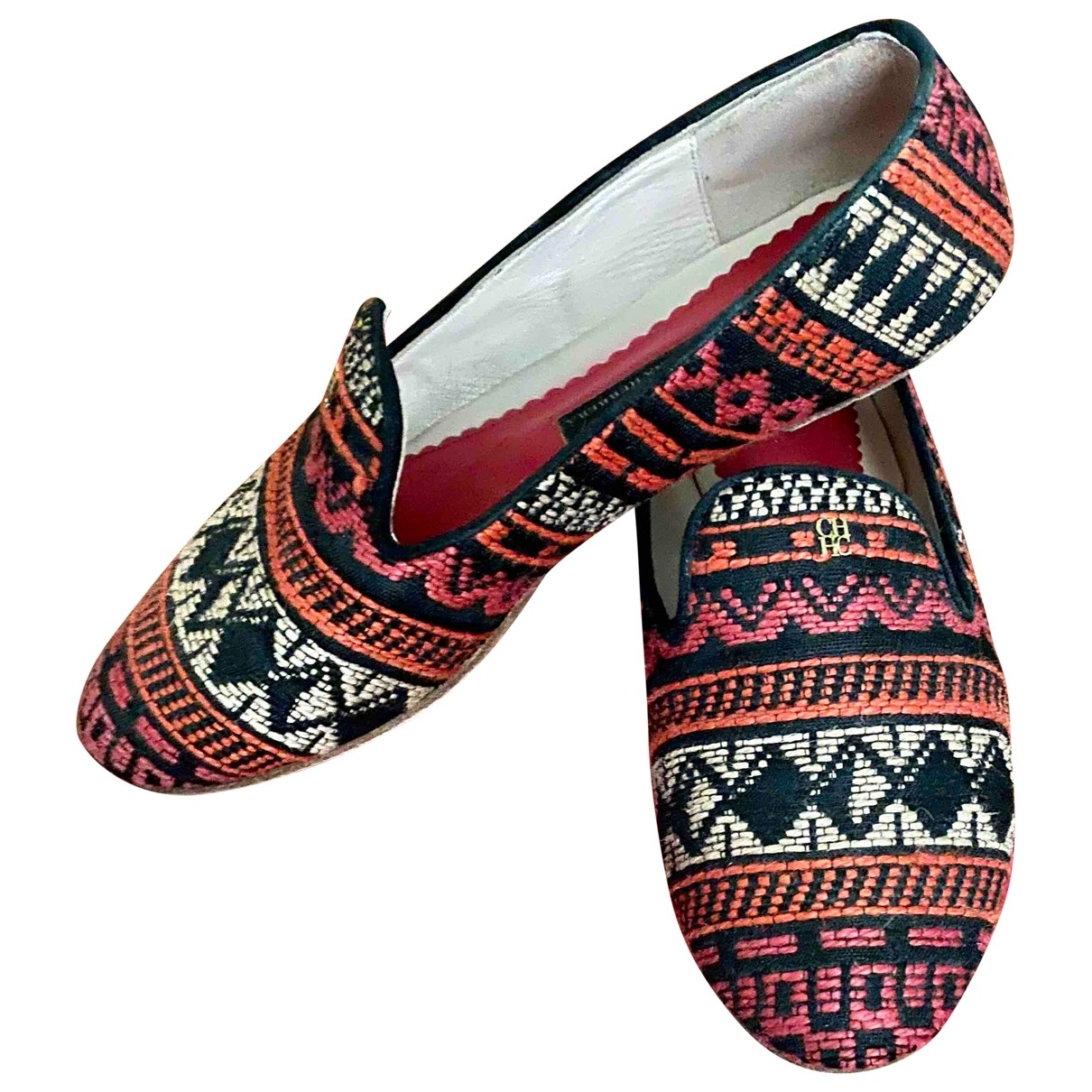 Carolina Herrera \N Multicolour Tweed Flats for Women 36 EU
