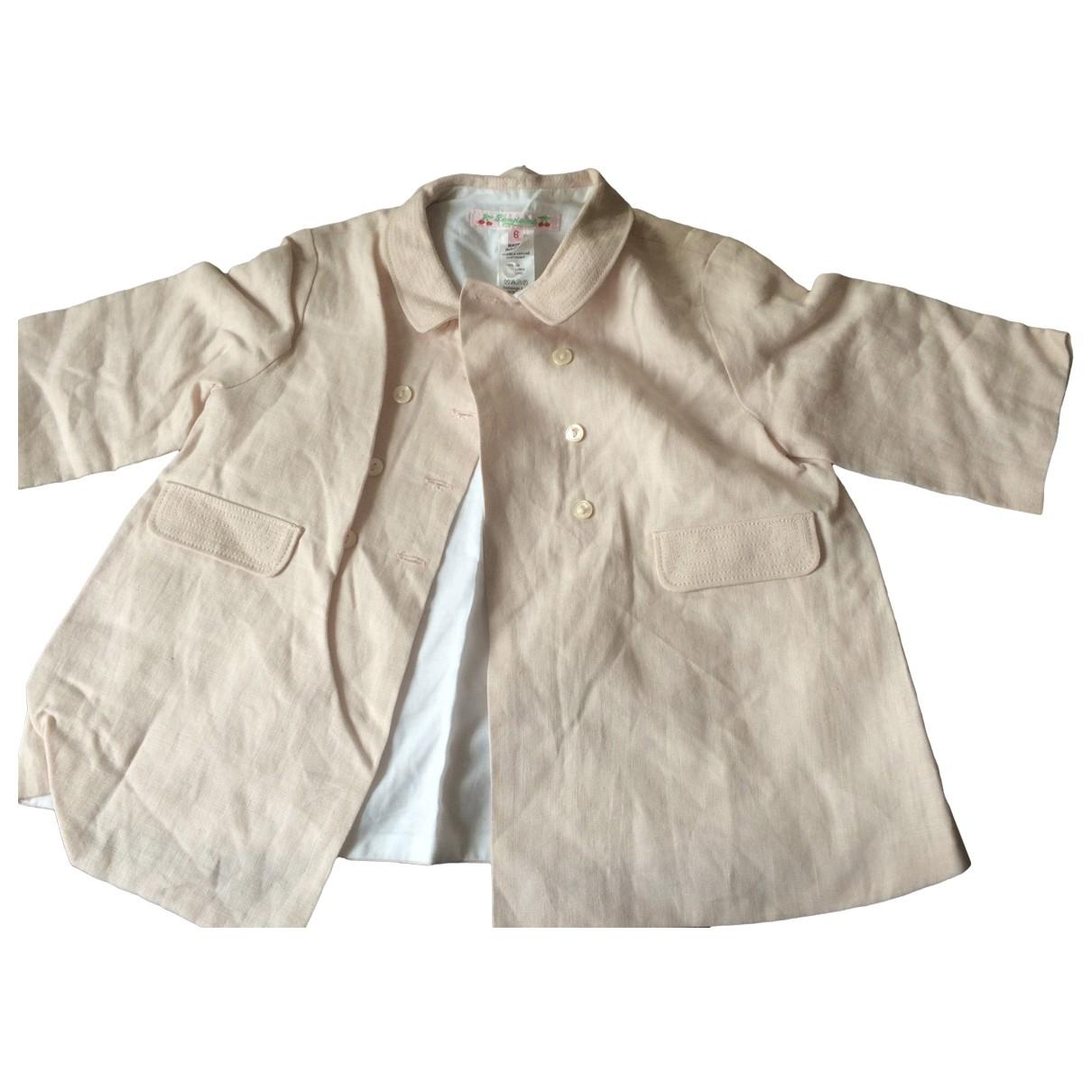 Bonpoint \N Pink Linen jacket & coat for Kids 6 months - up to 67cm FR