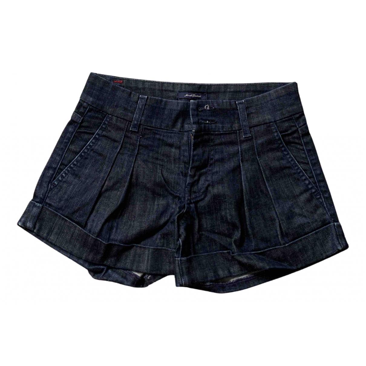 7 For All Mankind \N Shorts in  Blau Denim - Jeans
