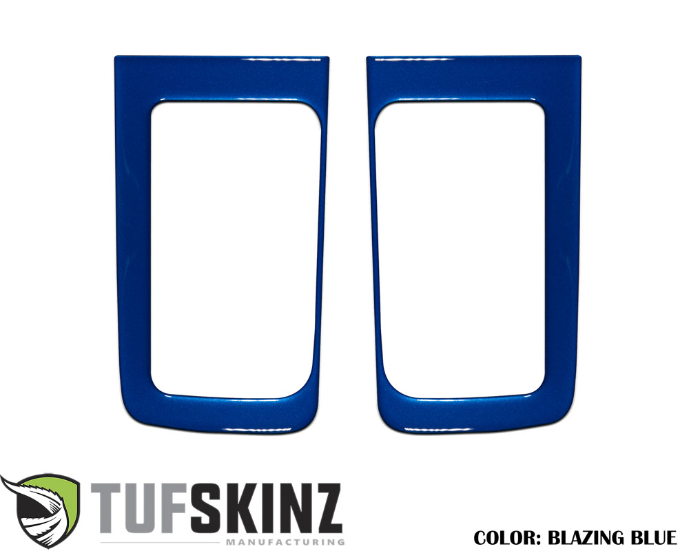 Tufskinz TUN032-GBL-G D-Cab Rear Door Handle Accent Trim Fits 14-up Toyota Tundra 2 Piece Kit Blazing Blue