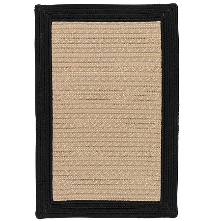 Colonial Mills Patriot Border Reversible Braided Rug, One Size , Black
