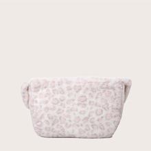 Bolsa de hombro mullida de niñas de leopardo
