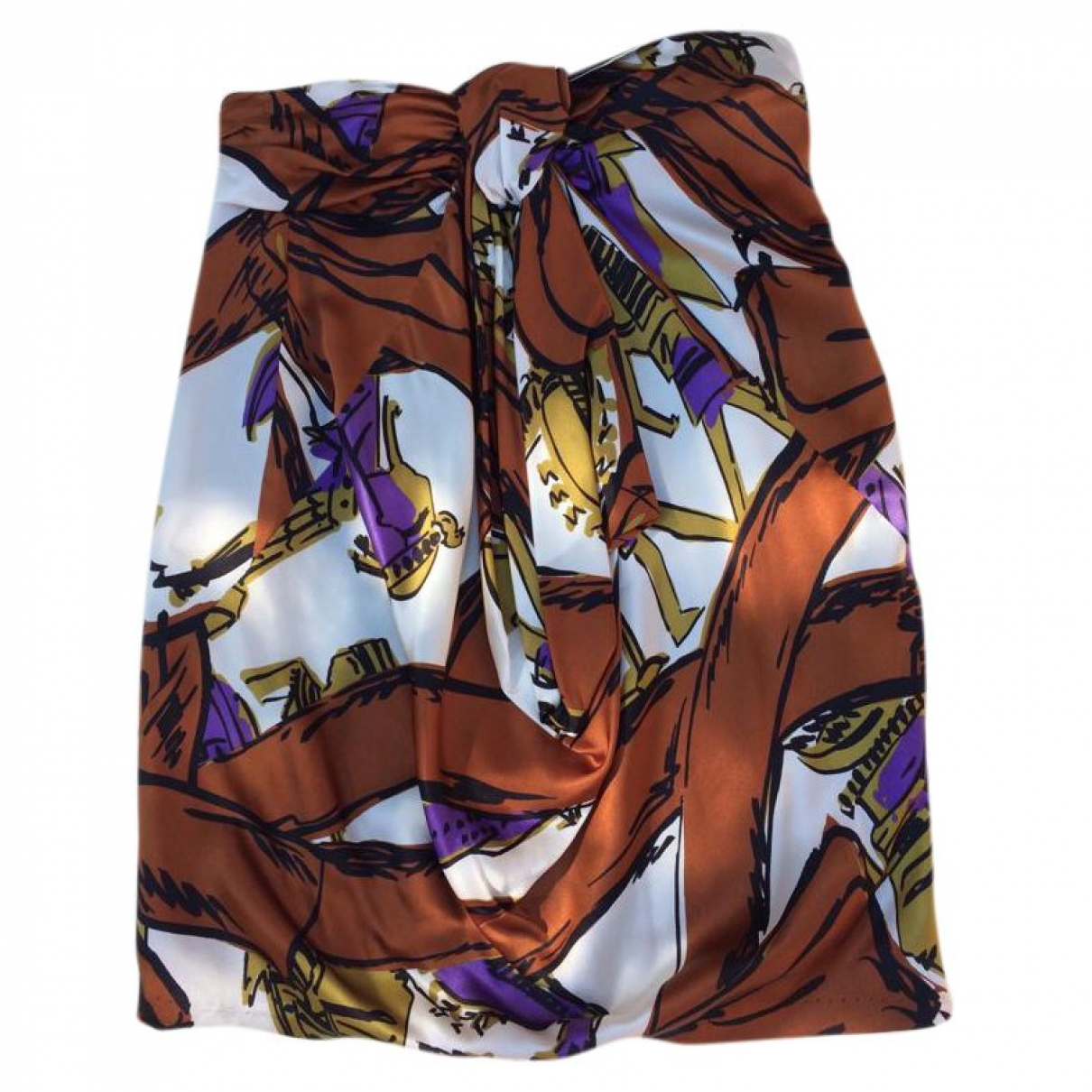 Aquilano Rimondi \N Multicolour Silk skirt for Women 42 IT