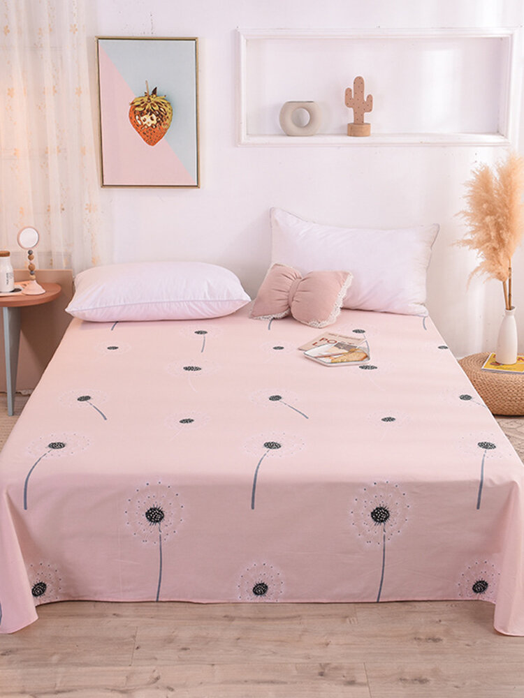 Small Fresh Pure Cotton Flower Print Bedroom Single Sheets