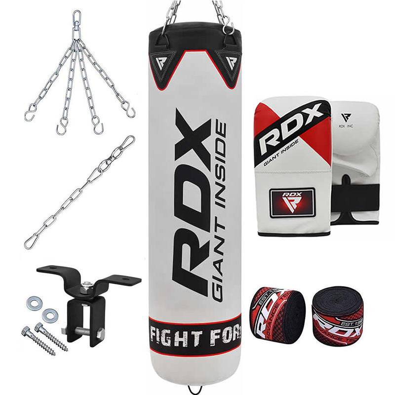 RDX F1 8PC Punch Bag with Bag Mitts Home Gym Set