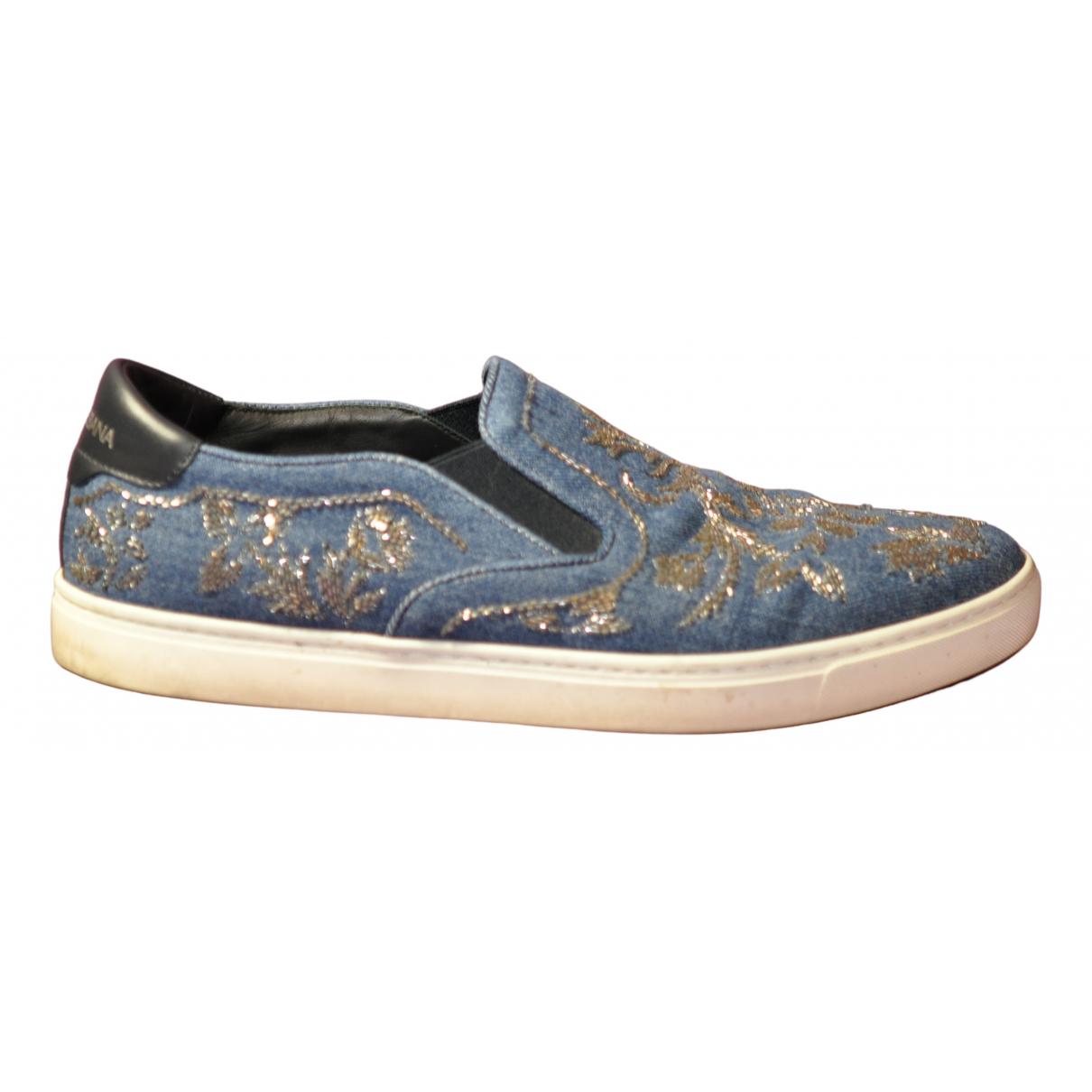 Dolce & Gabbana \N Sneakers in  Blau Leder