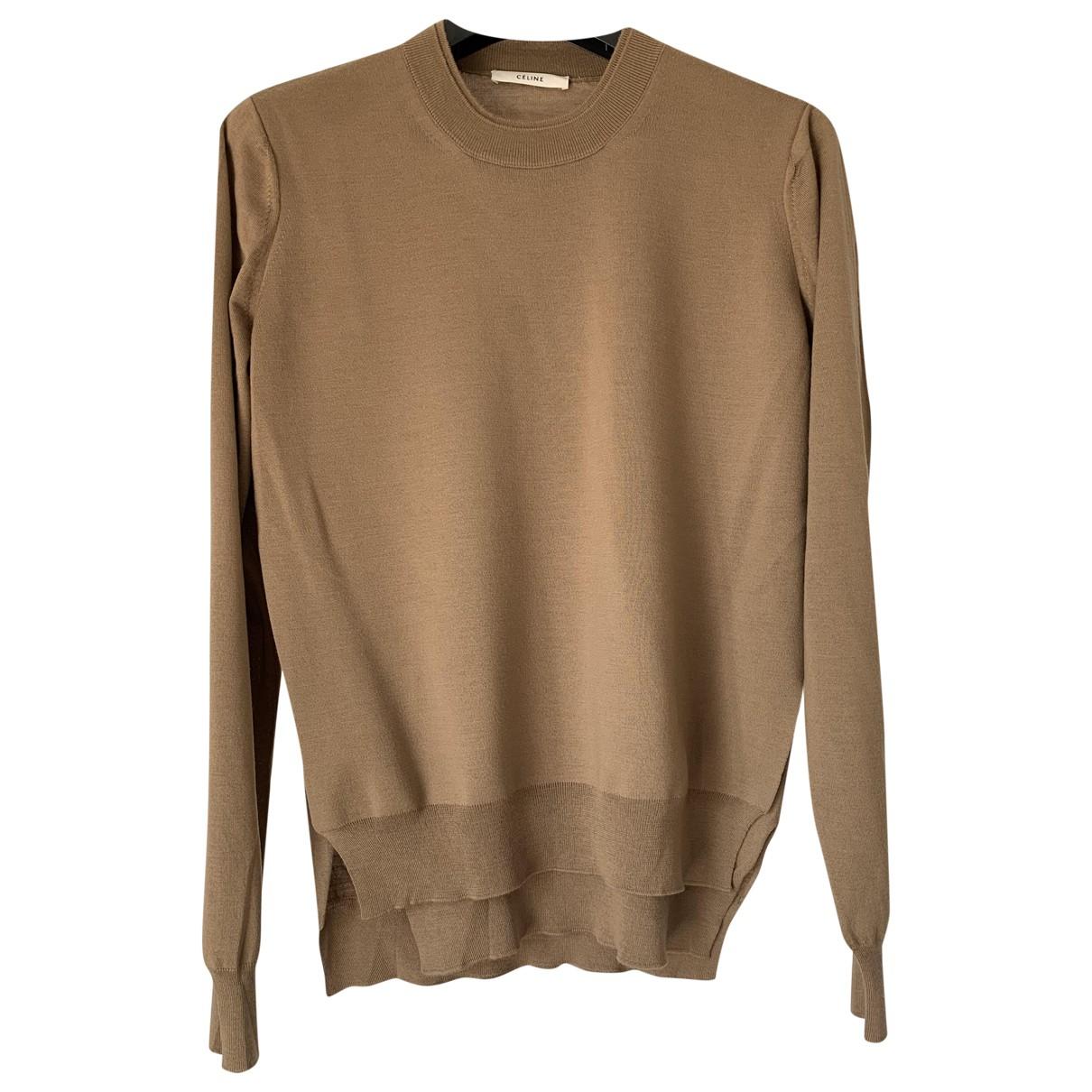 Celine - Pull   pour femme en laine - beige