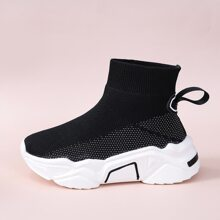 Knit Wide Fit Chunky Slip On Sneakers