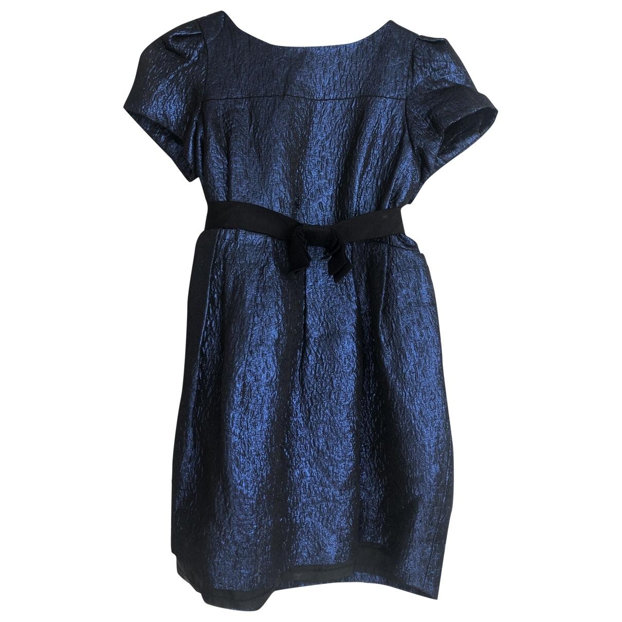 Bonpoint \N Kleid in  Blau Synthetik