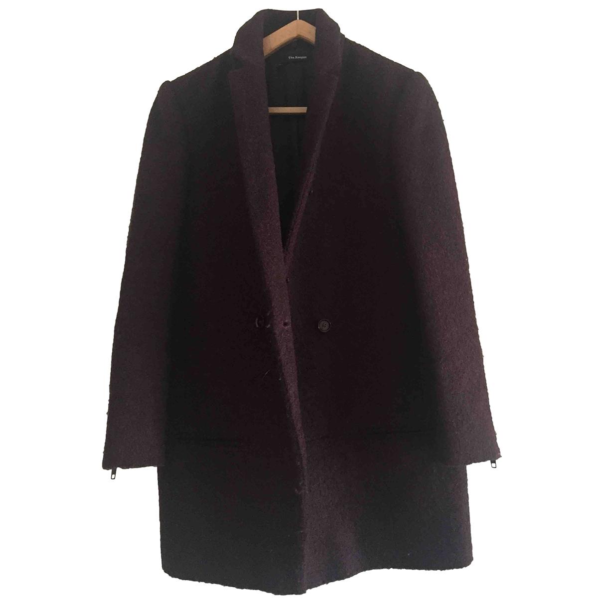 The Kooples - Manteau   pour femme en laine - bordeaux
