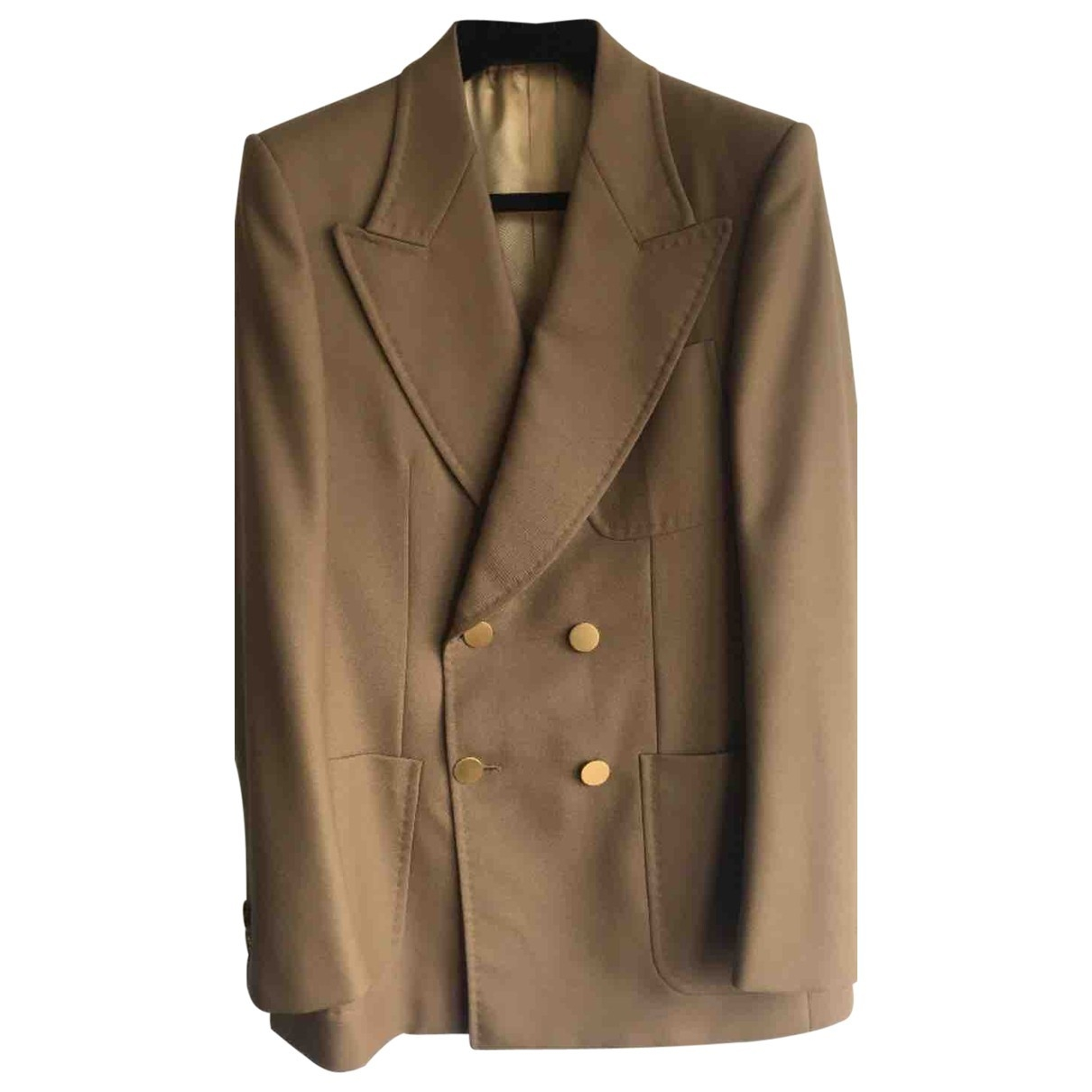 Gucci \N Jacke in  Beige Polyester