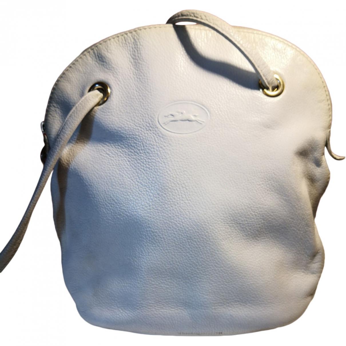 Longchamp \N Handtasche in  Weiss Leder