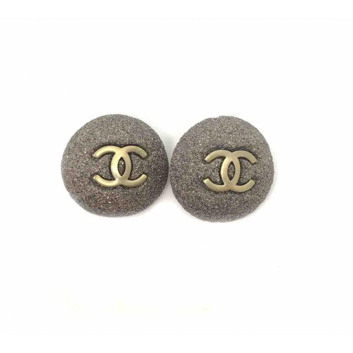 Chanel CC Grey Metal Earrings for Women \N