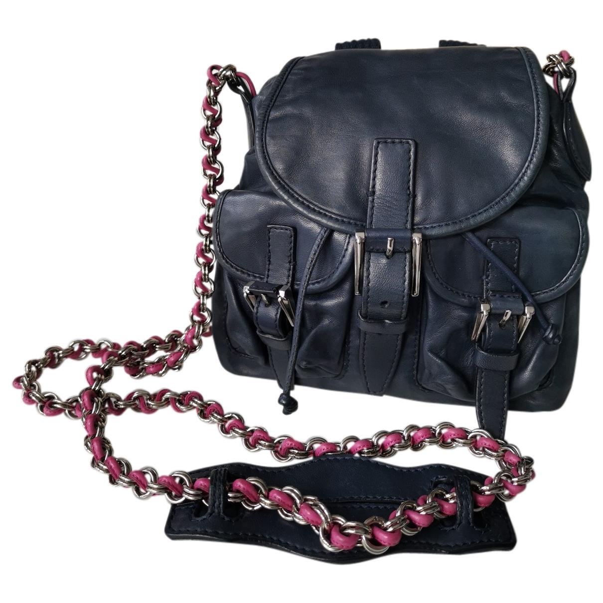 Balenciaga \N Handtasche in  Blau Leder