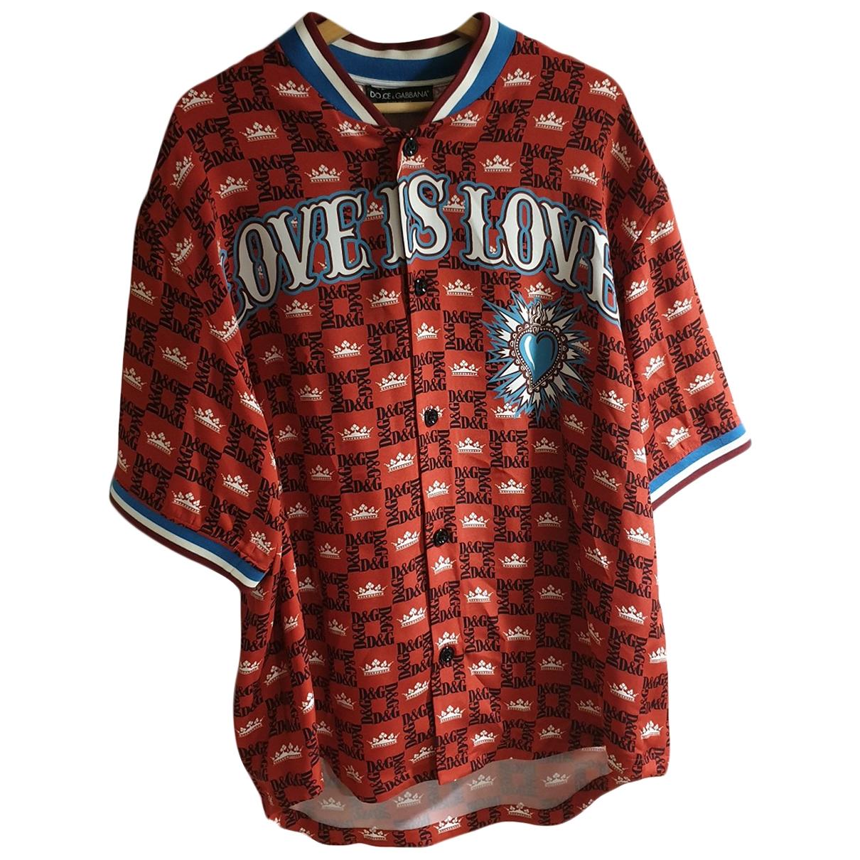 Dolce & Gabbana - Chemises   pour homme en soie - rouge
