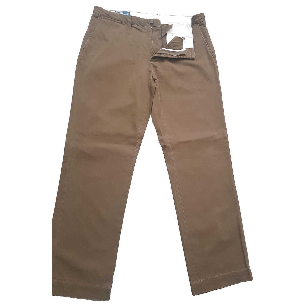 Pantalones en Algodon Marron Polo Ralph Lauren