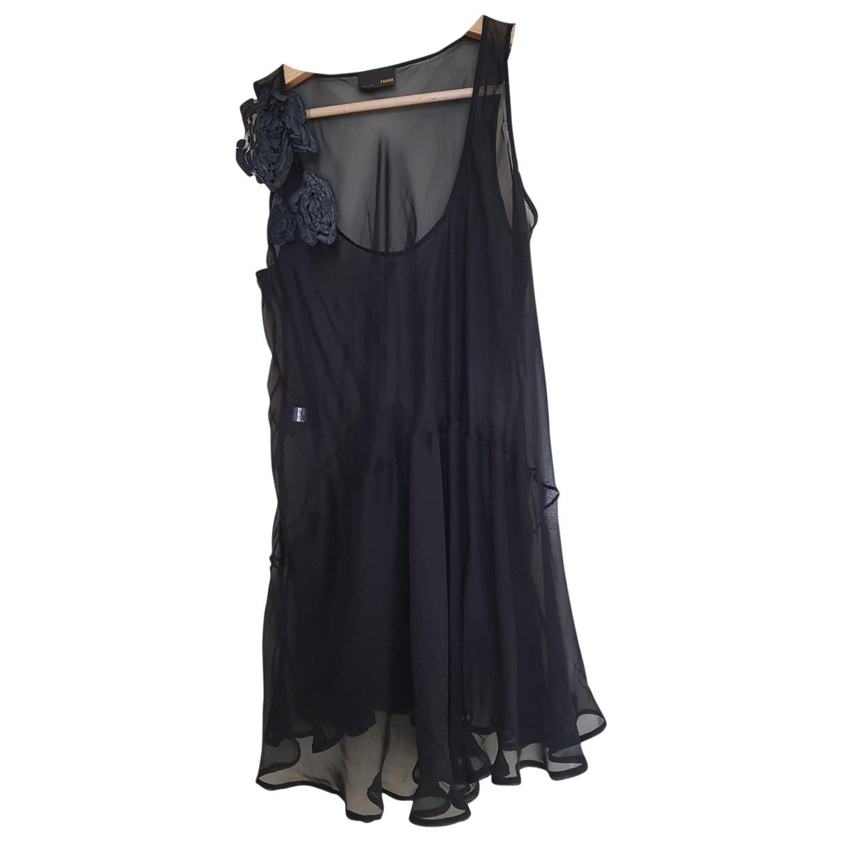 Fendi - Top   pour femme en soie - noir