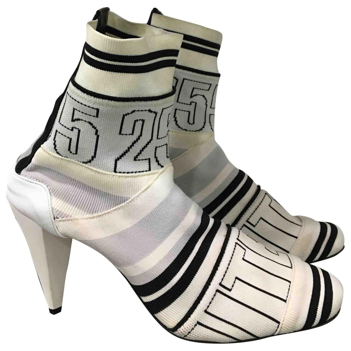 Msgm - Boots   pour femme en toile - blanc