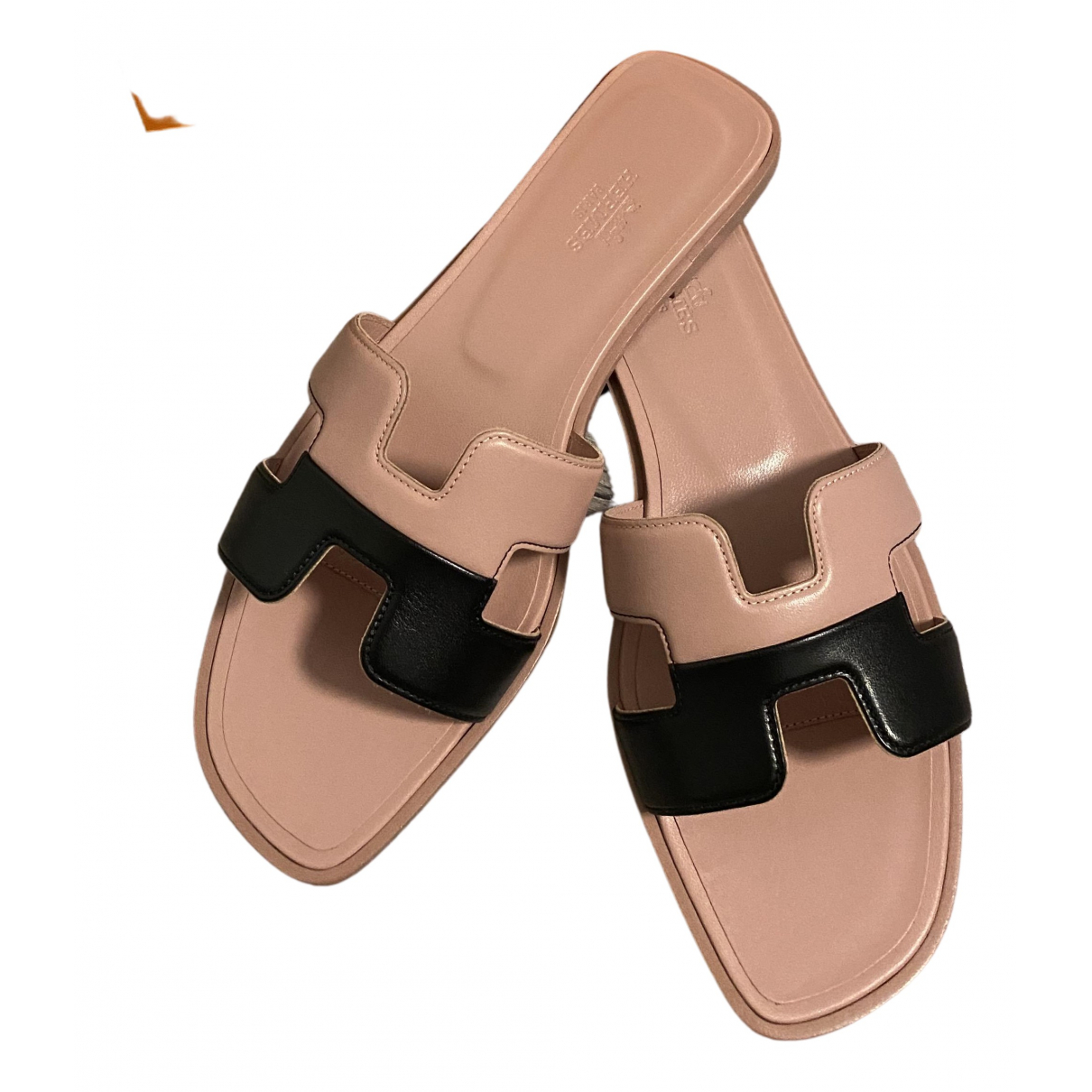 Hermes - Sandales Oran pour femme en cuir - rose