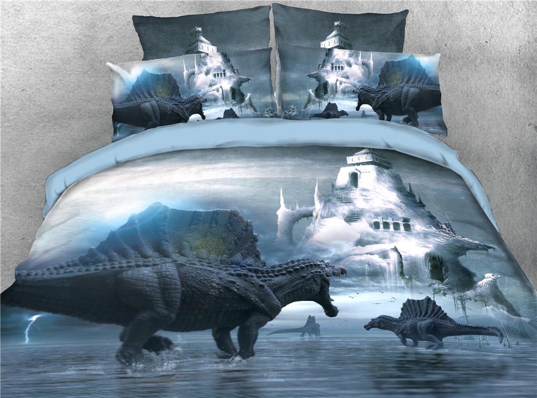 Dinosaur Machine Wash Five-Piece Set Comforter Set Polyester Bedding Sets