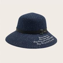 Sombrero de paja con cinturon