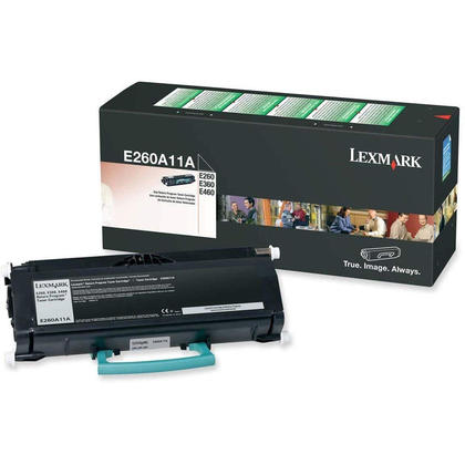 Lexmark E260A11A Original Black Return Program Toner Cartridge