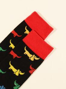Men Dog Pattern Socks