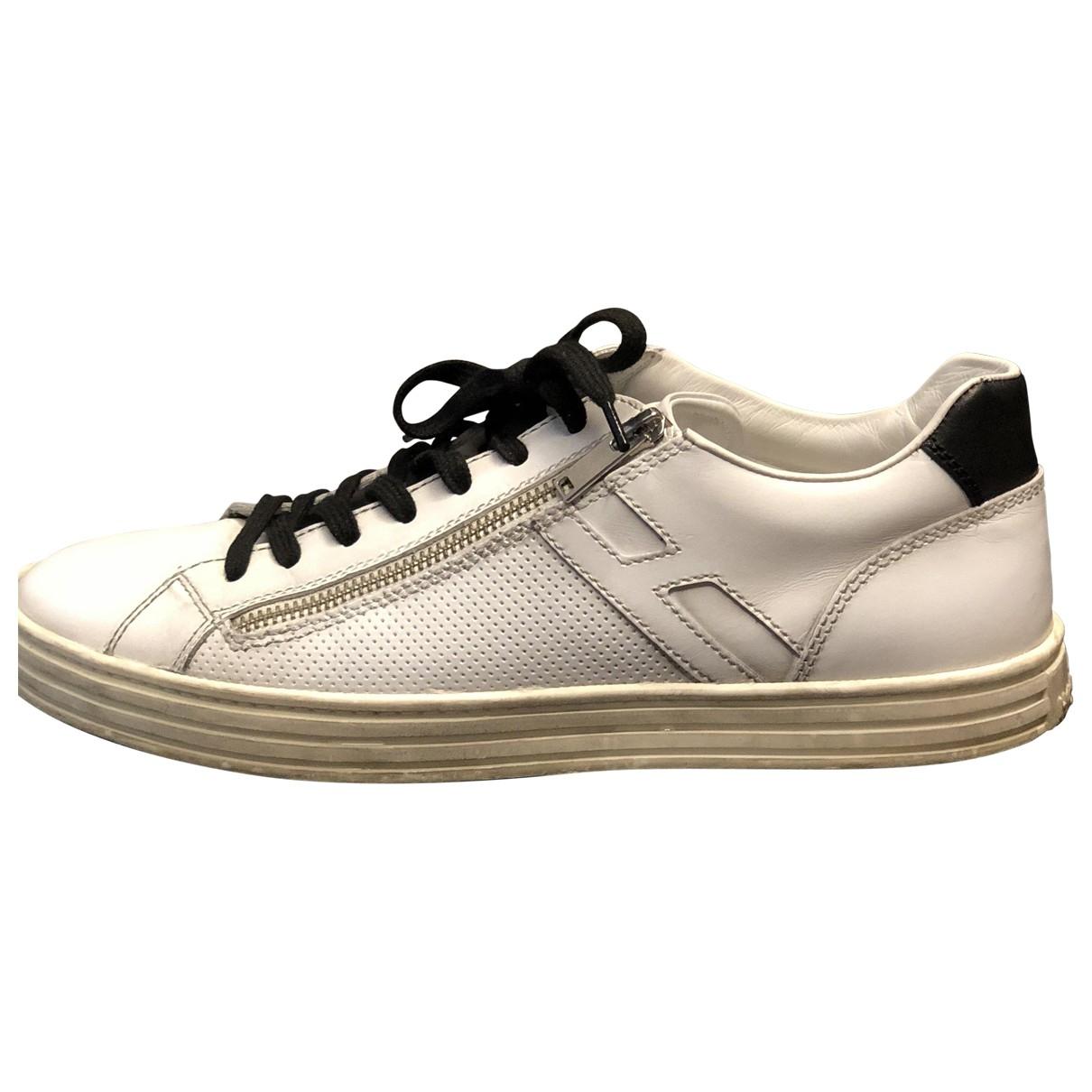 Hogan \N White Leather Lace ups for Men 8 UK