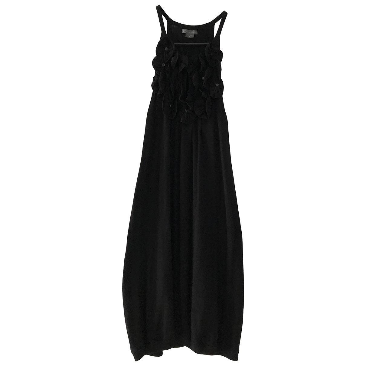Emporio Armani \N Kleid in  Schwarz Seide