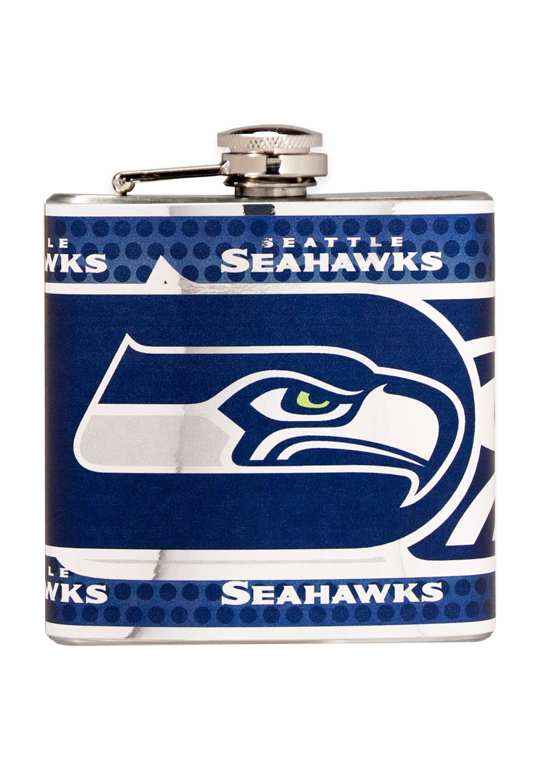 NFL Seattle Seahawks 6 oz. Stainless Steel Flask w/ Metallic Graphics