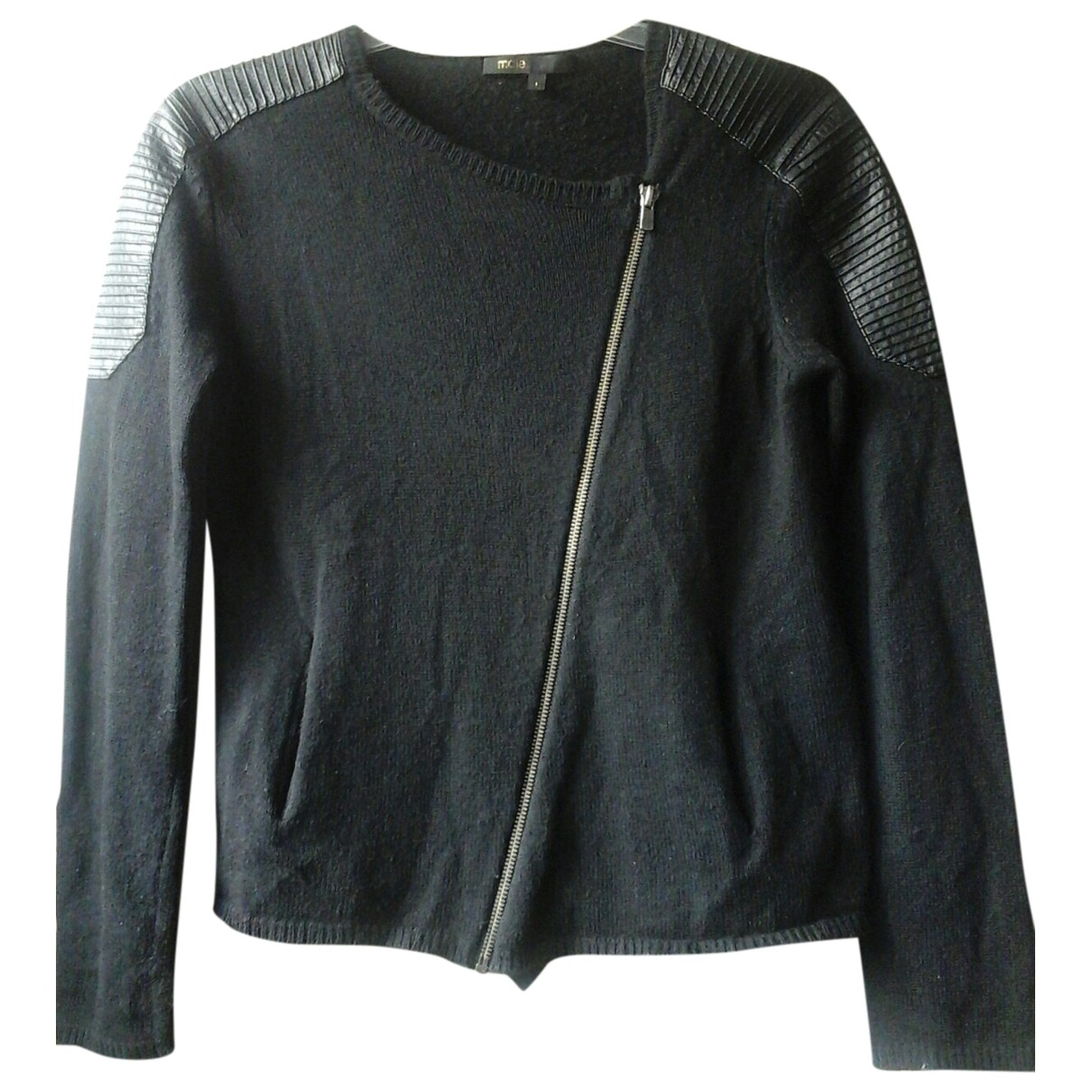 Maje \N Pullover in  Schwarz Wolle