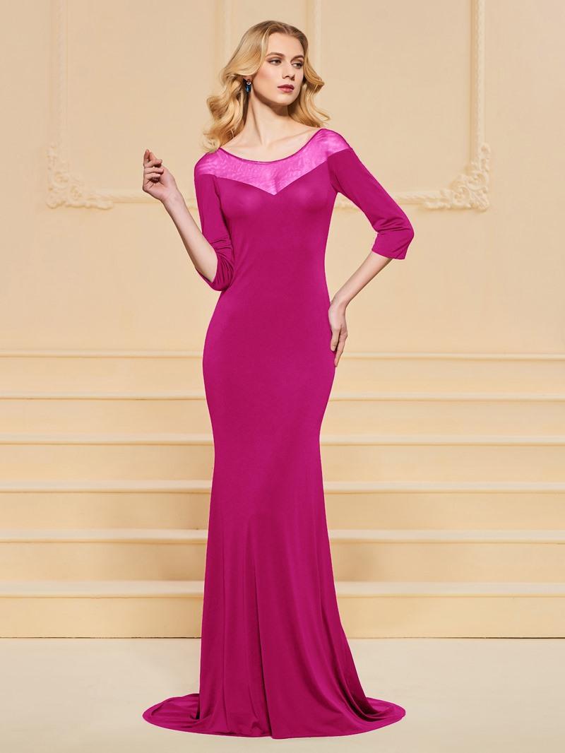 Ericdress 3/4 Sleeve Bateau Neck Black Mermaid Prom Dress