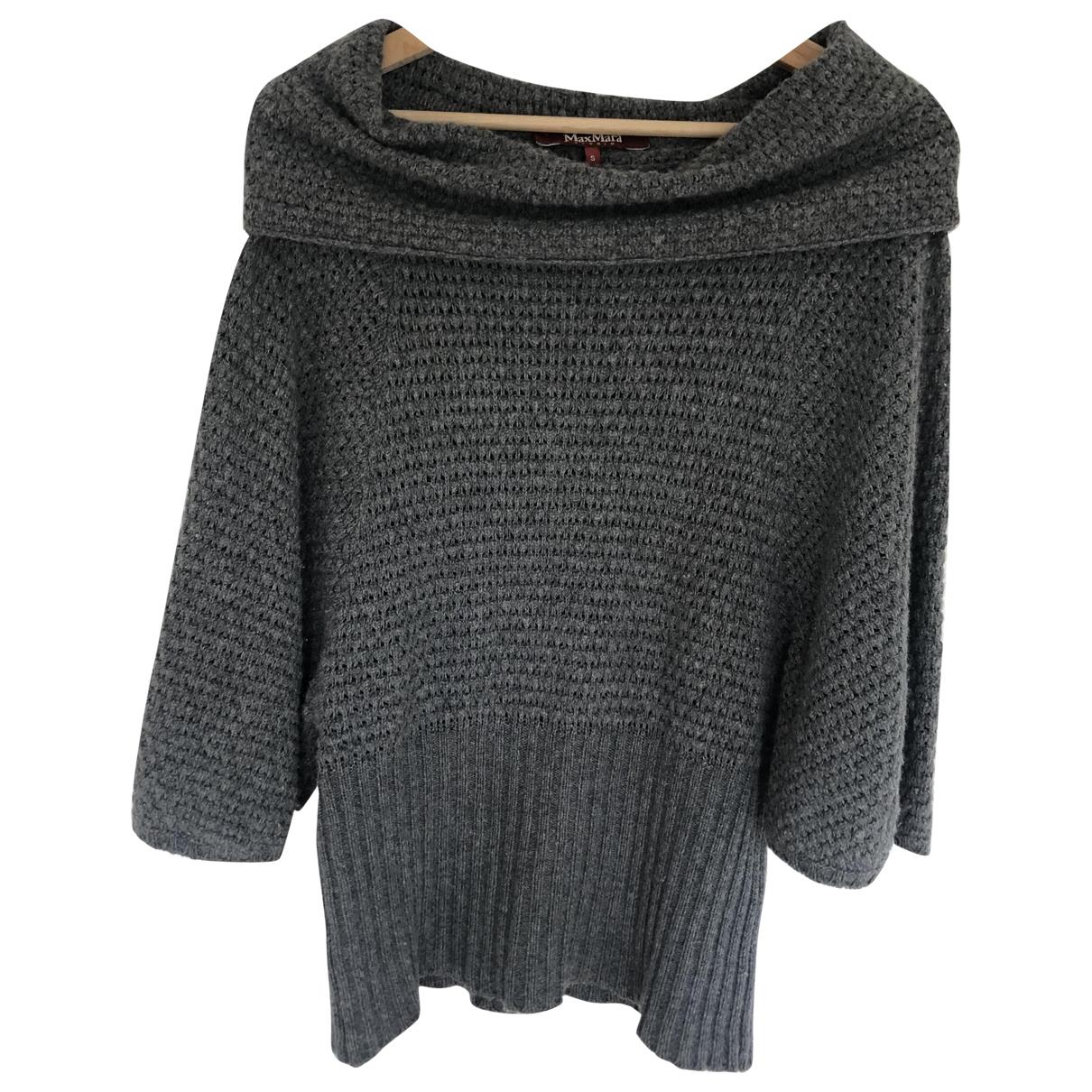 Max Mara Studio \N Pullover in  Grau Wolle