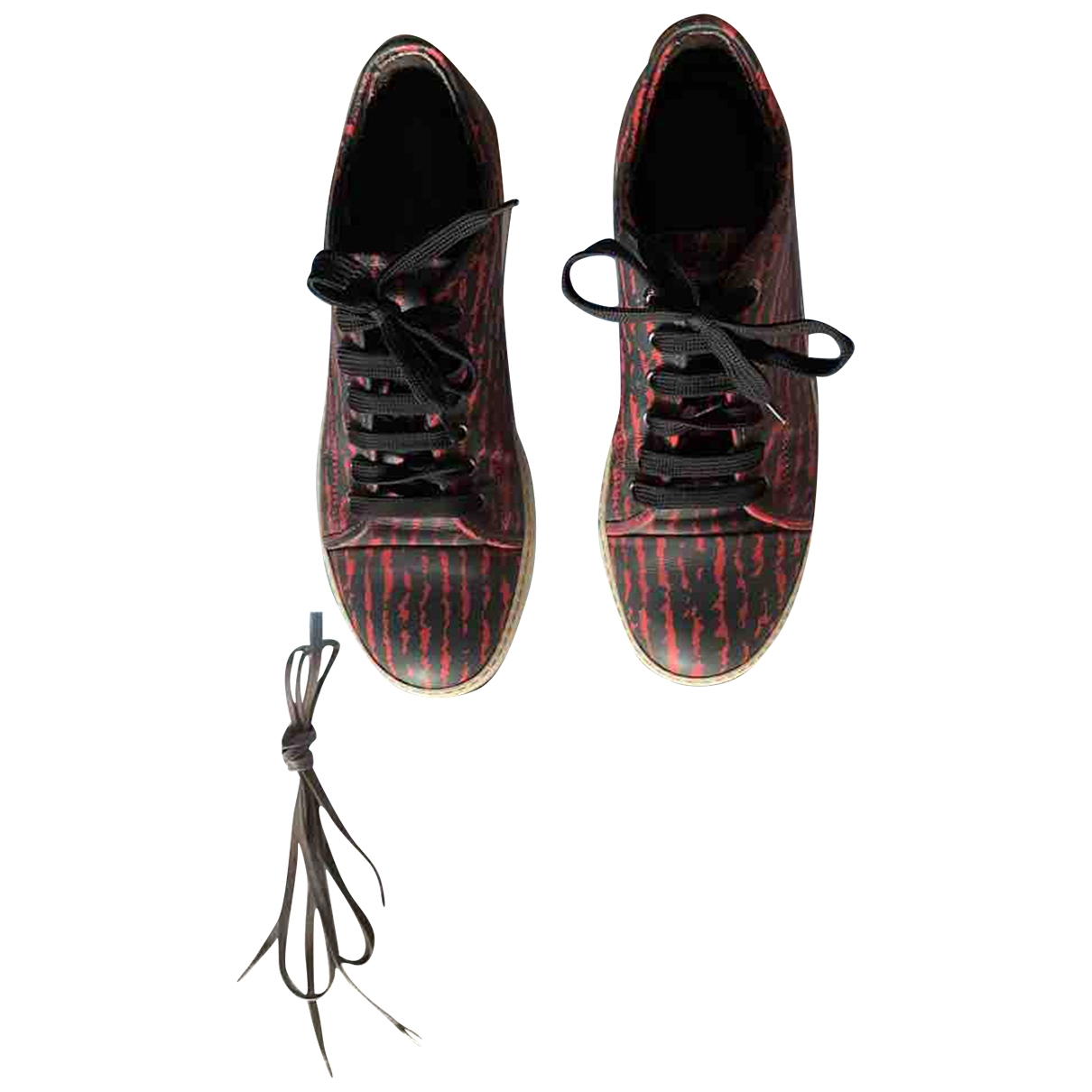 Lanvin \N Sneakers in  Rot Leder