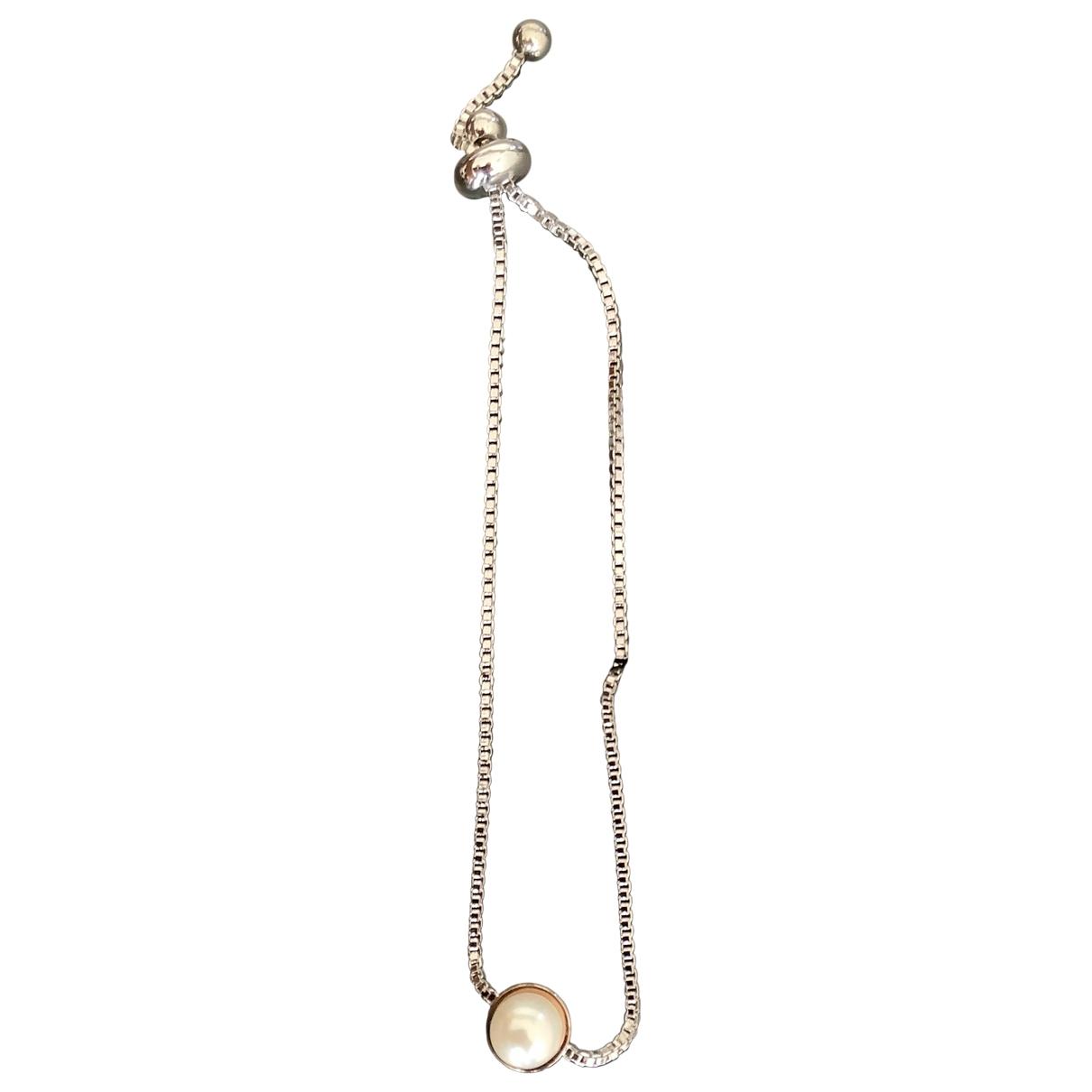 - Bracelet   pour femme en perle - argente