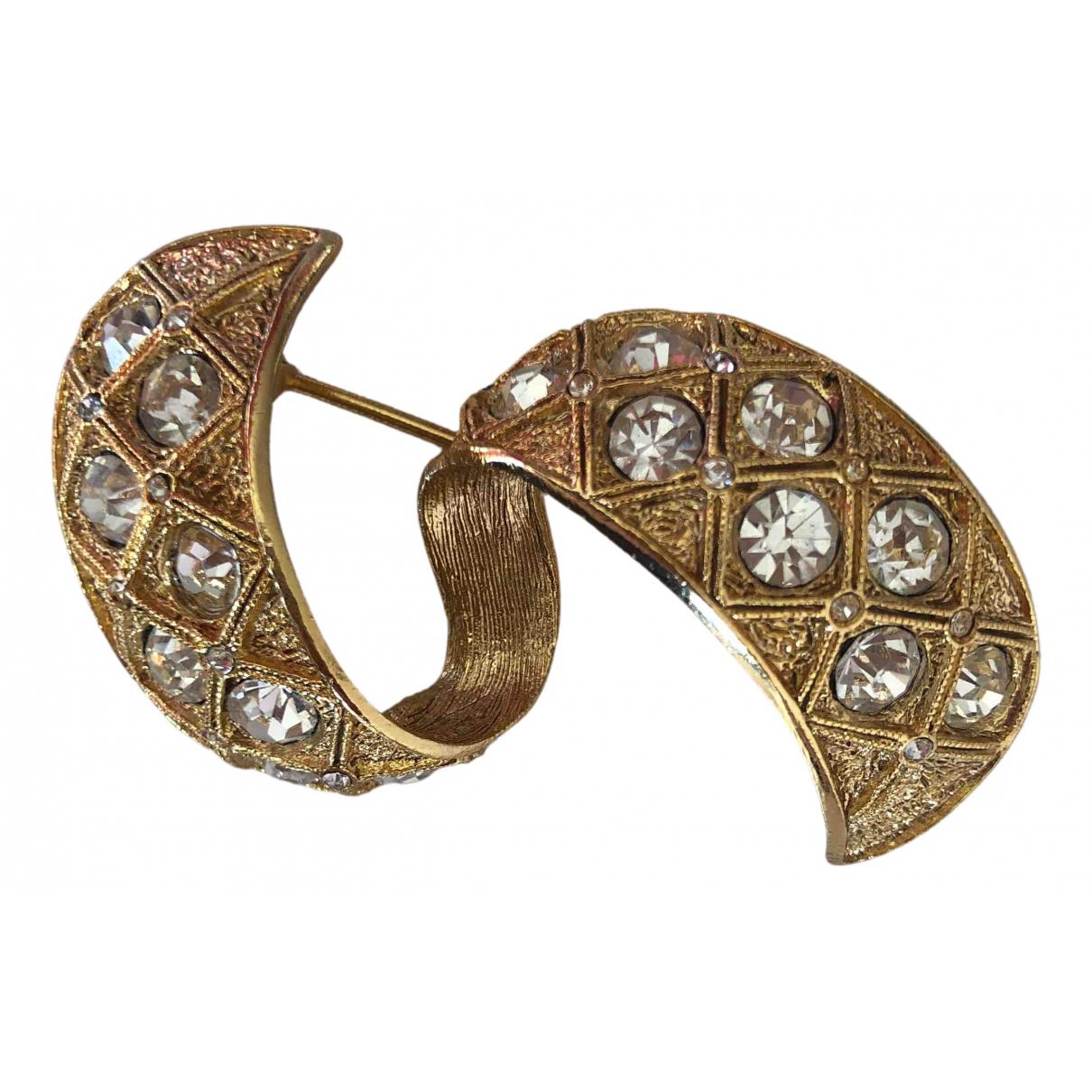 Balenciaga - Broche   pour femme en metal - dore