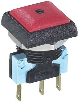 APEM Single Pole Double Throw (SPDT) Momentary Red LED Push Button Switch, IP67, 16 (Dia.)mm, Panel Mount, 250V ac