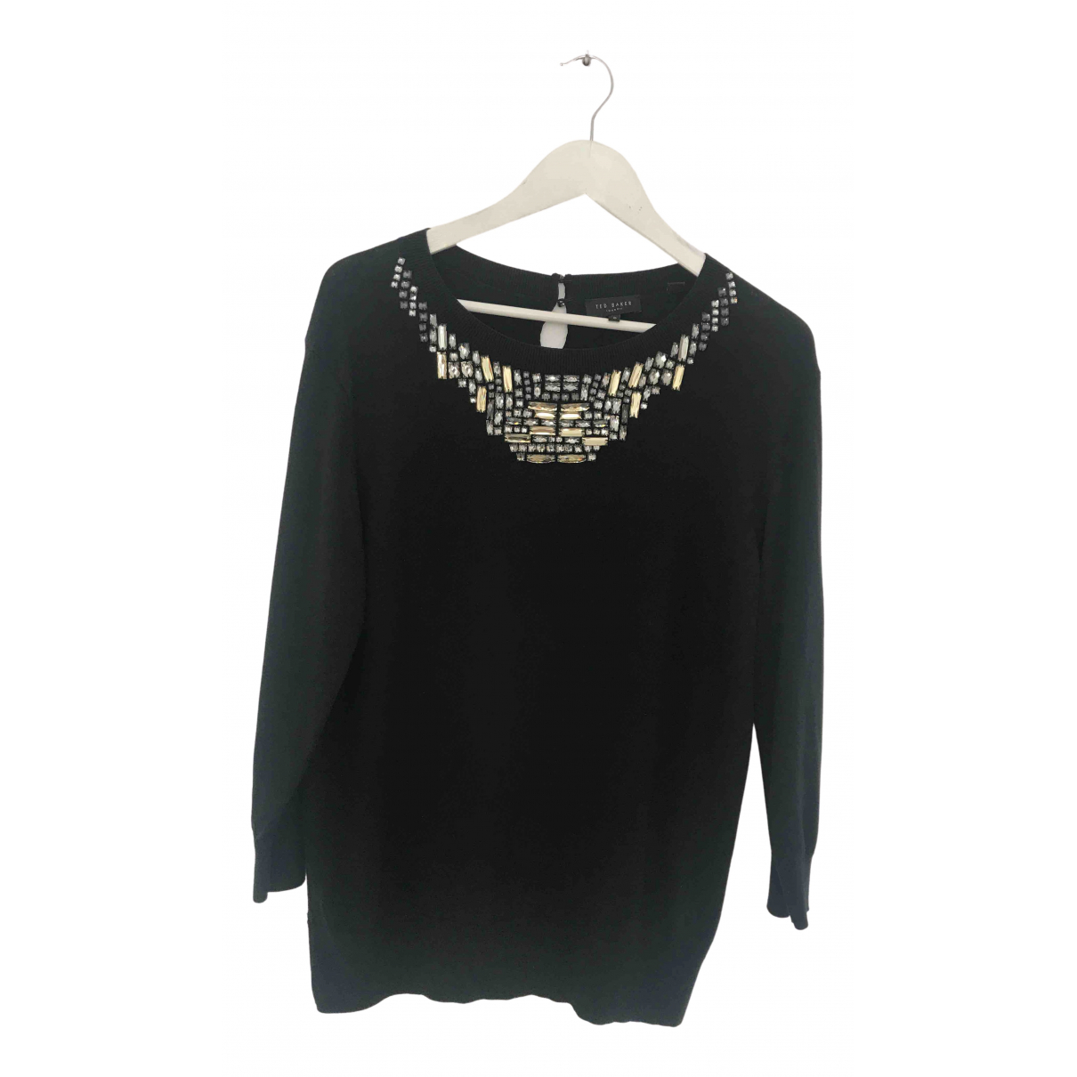 Ted Baker N Black Cotton Knitwear for Women 42 FR