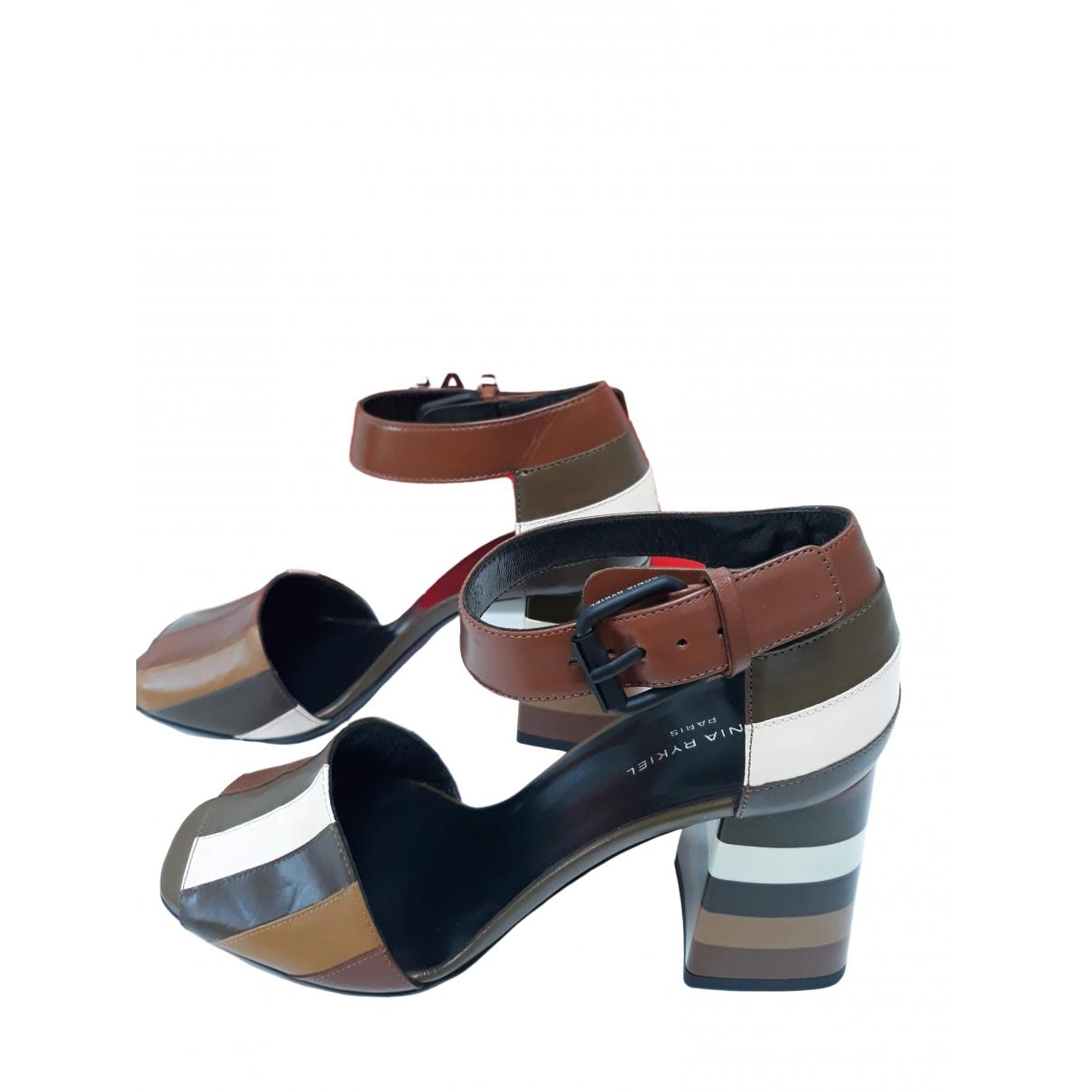 Sonia Rykiel - Sandales   pour femme en cuir - multicolore