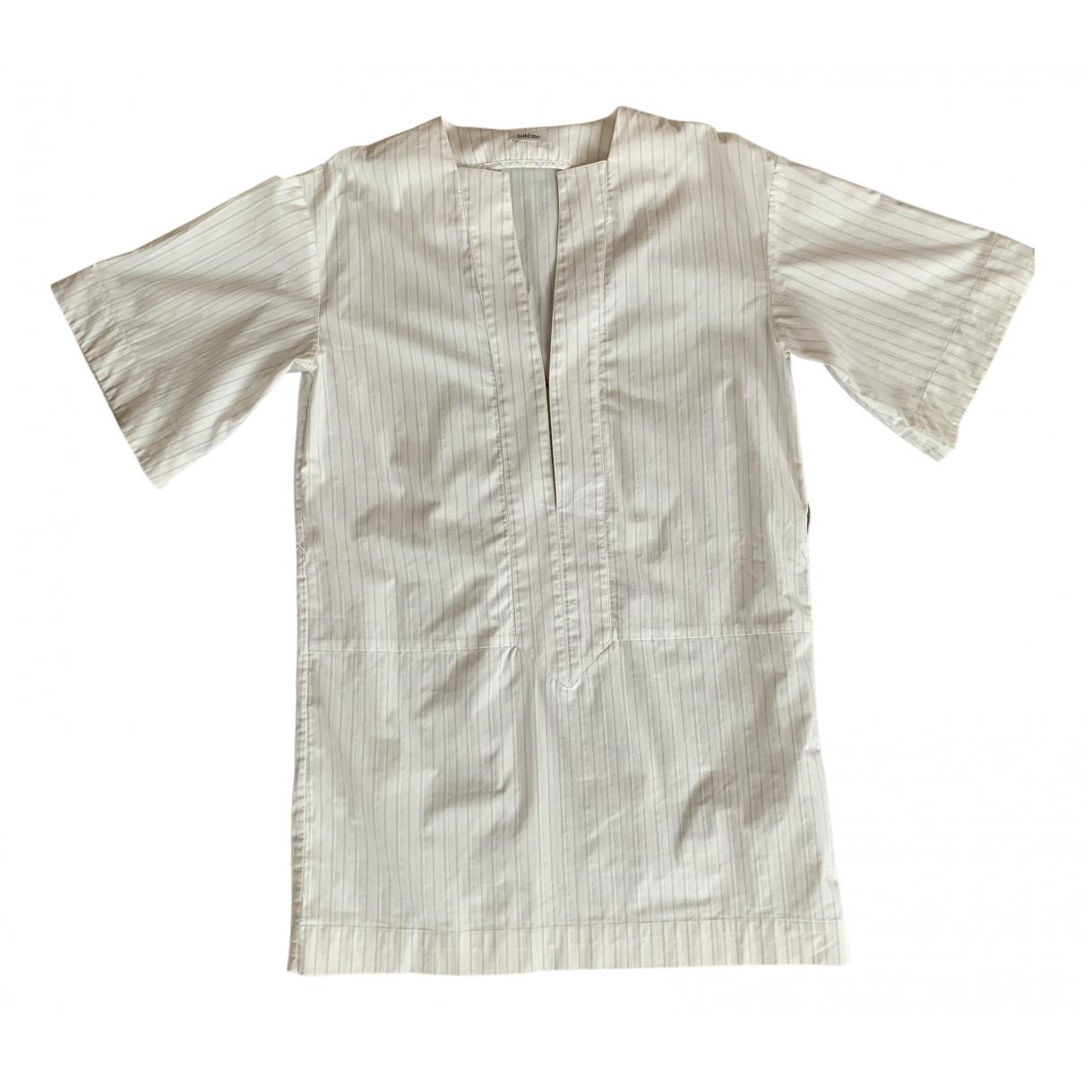 Toteme \N Kleid in  Weiss Baumwolle