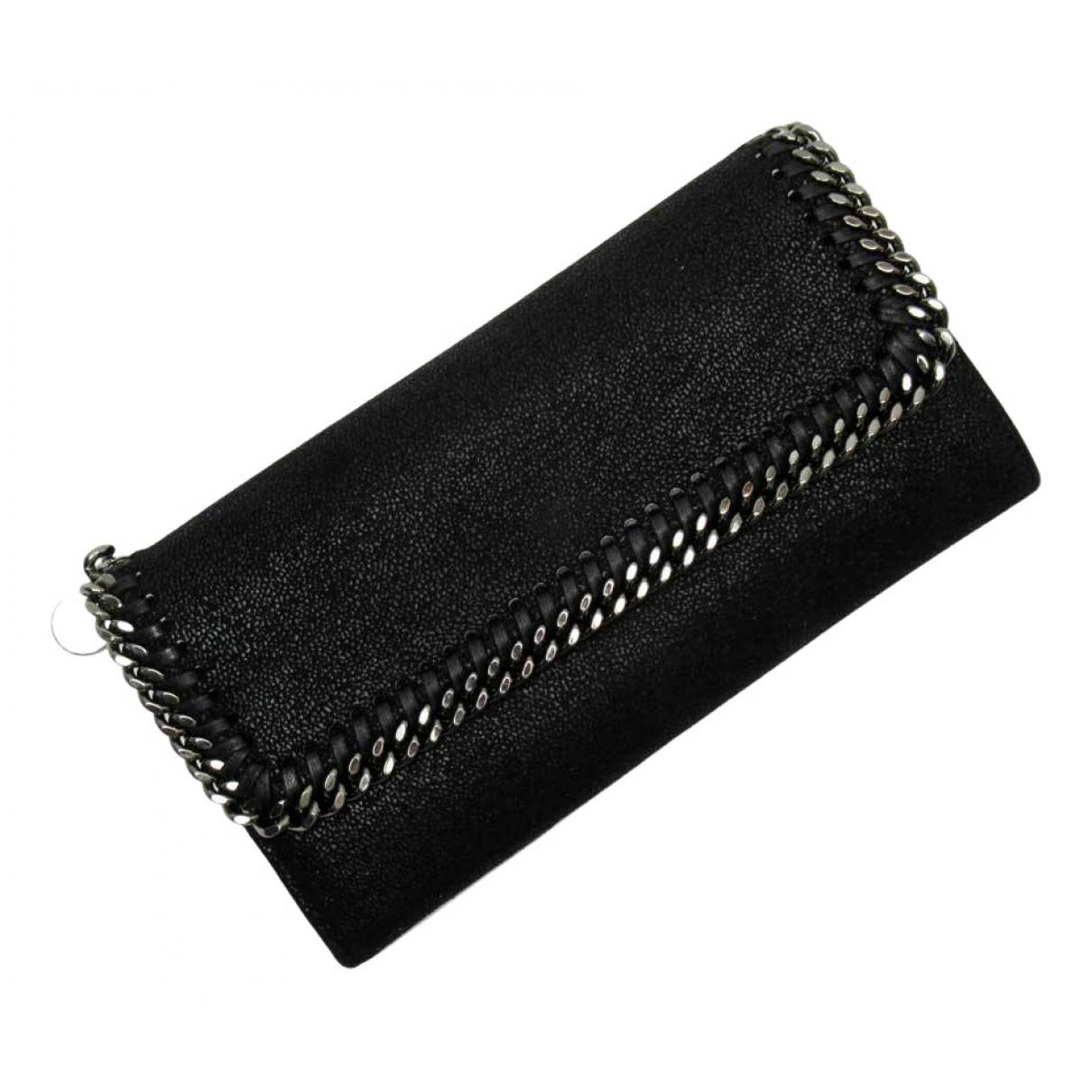 Stella Mccartney - Portefeuille   pour femme en toile - noir