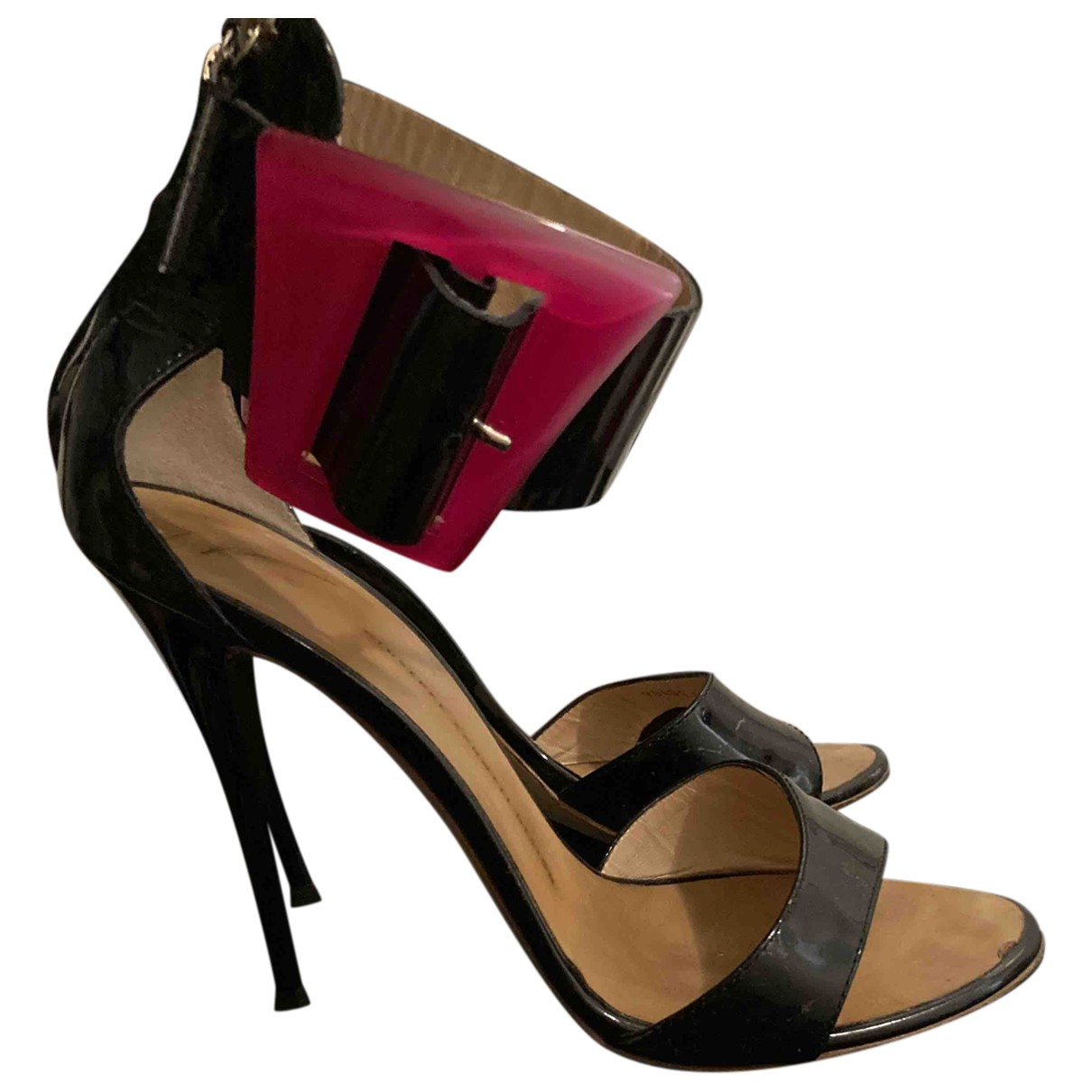Giuseppe Zanotti \N Black Patent leather Sandals for Women 40 EU