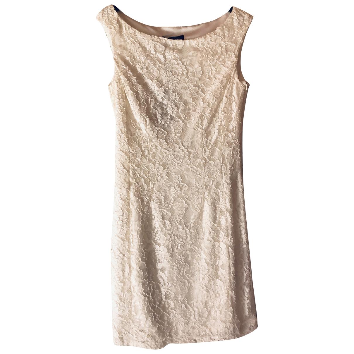 Guess \N White Cotton dress for Women 46 IT