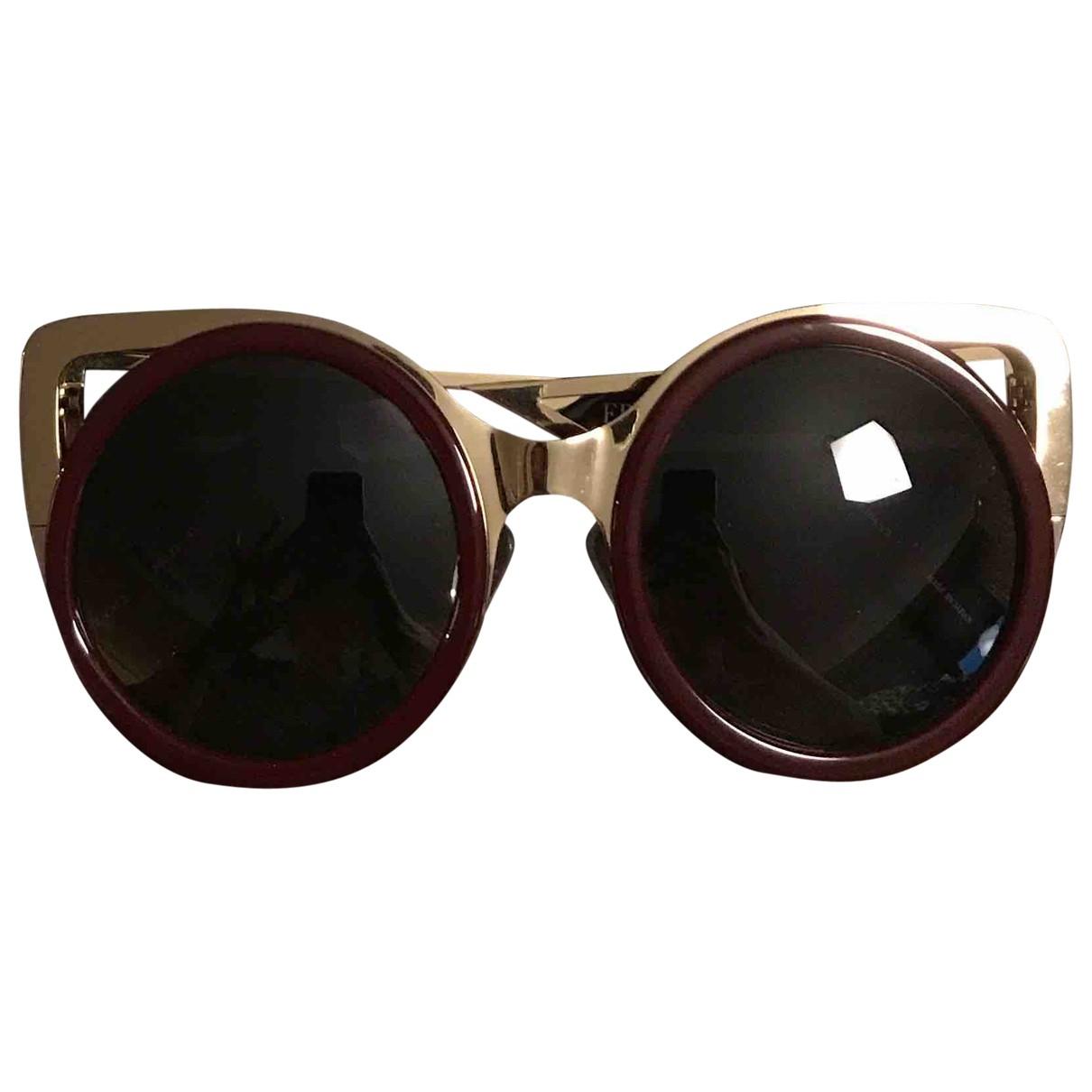 Erdem \N Burgundy Metal Sunglasses for Women \N