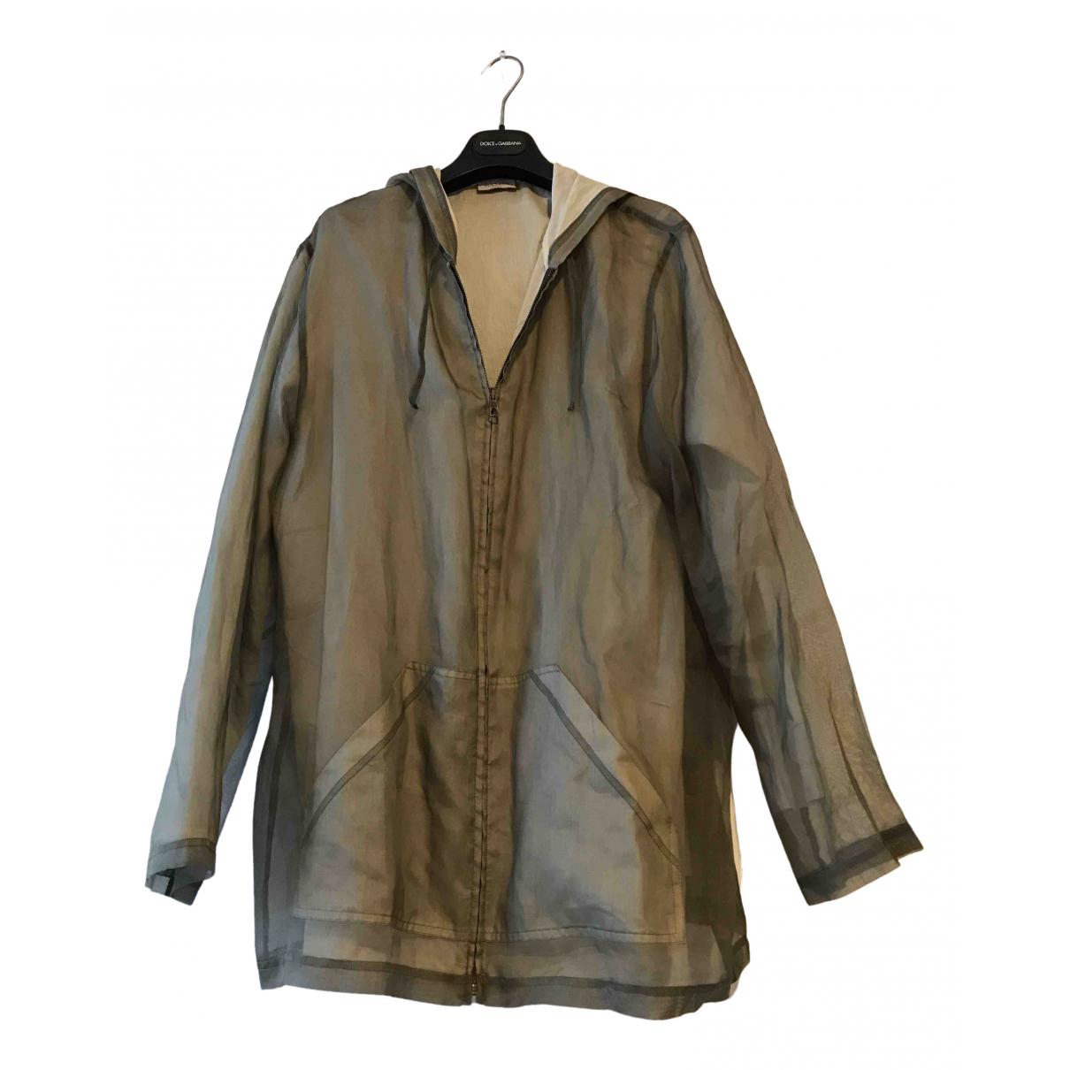Max & Co N Khaki Silk jacket for Women 46 IT